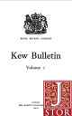 Kew Bulletin's in JSTOR